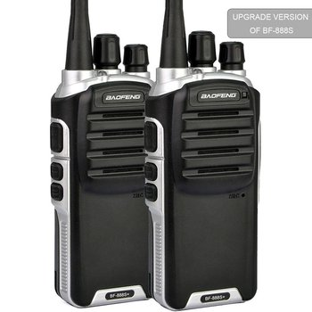 BF-888S Plus UHF Walkie Talkies Upgrade Version of BF-888S Two-Way Radio for Hiking Camping Trolling (2 Pack)