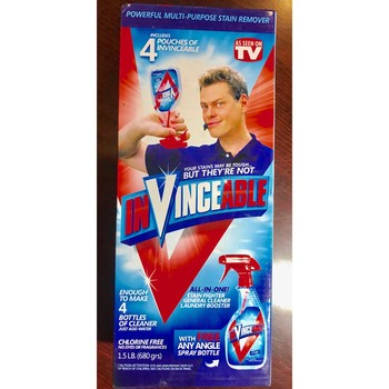 INVINCEABLE 4 Pack All In One Cleaner Stain Remover As Seen On TV + SPRAY BOTTLE