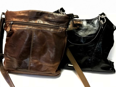 Bulk Of 2 Purses (Leather and Faux Leather)