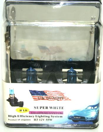 NIB Super White Halogen Car Headlight Globes Bulbs Replacement 6000K