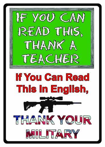 MADE IN USA Collectible Tin Sign The Teacher