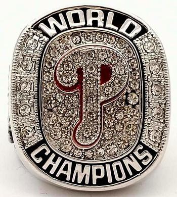 MLB Philadelphia Phillies 2008 World Series Championship Replica Ring Size 10