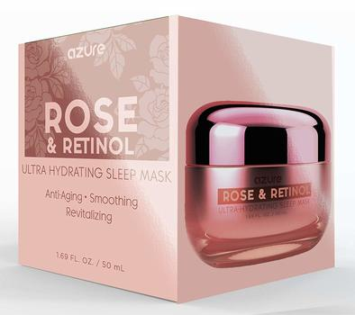 Rose & Retinol Ultra Hydrating Sleep Mask - Smooths Skin | Revitalizes | Reduces Appearance Of Wrinkles and Fine Lines - 50mL