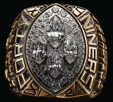 NFL San Francisco 49Ers Super Bowl XXIV Replica Ring Size 10