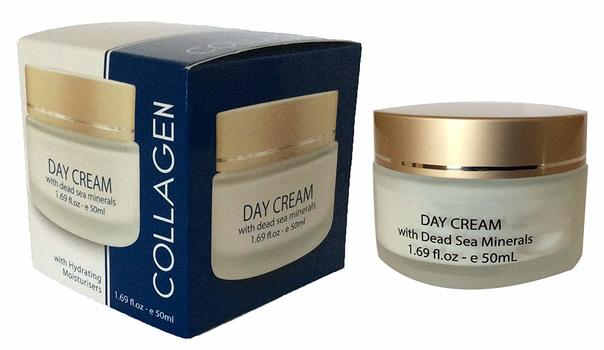Made In Israel  Roll over image to zoom in COLLAGEN DAY CREAM WITH DEAD SEA MINERALS / 50 ML 1.69 OZ
