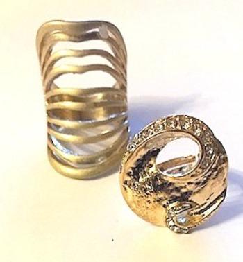 New Bulk Of 2 Gold Plated Rings