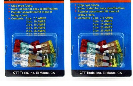 2 x 15 Piece Car Fuse Set (30 in Total)