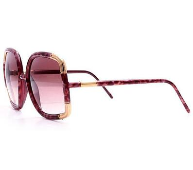 Ted Lapidus Woman's Jade Purple with Gold Accents Sunglasses Retail $599.99 MADE IN FRANCE