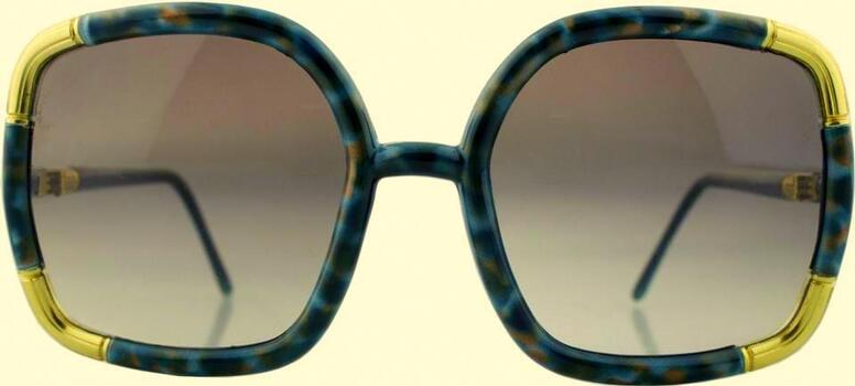 Ted Lapidus Woman's Jade Green with Gold Accents Sunglasses Retail $599.99 MADE IN FRANCE