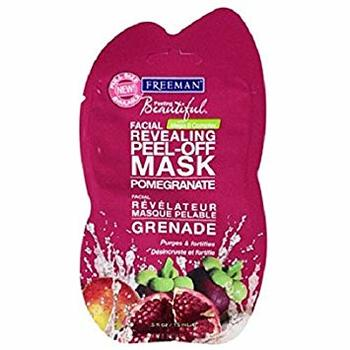 3 Pieces Freeman Pomegranate Revealing Peel-Off Mask .5 Fl Oz Travel Size