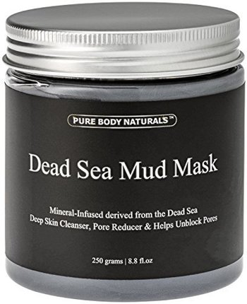 New Pure Body Naturals Dead Sea Mud Mask for Face and Body, Purifying Face Mask for Acne, Blackheads, and Oily Skin
