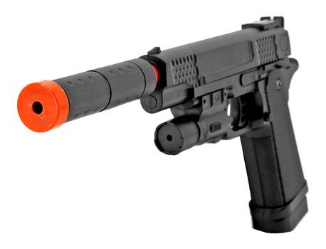 Airsoft Pistol Handgun - Black With Laser NEW