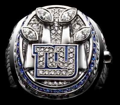 NFL New York Giants Super Bowl XLVI Championship Replica Ring Size 9