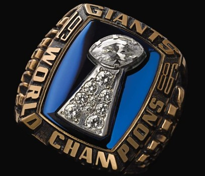 New York Giants Super Bowl XXI World Championship Replica Ring Size 9
