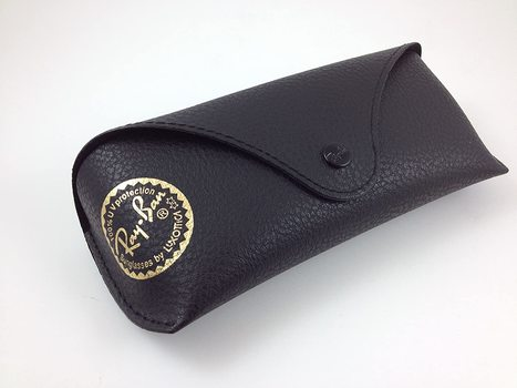 Ray Ban Original Black Leather Sunglasses Case