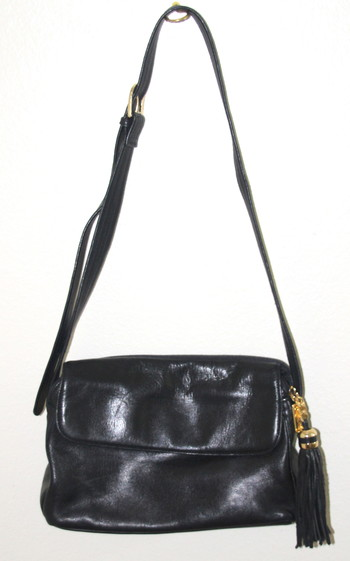 Tignanello Hobo Bag Leather Black