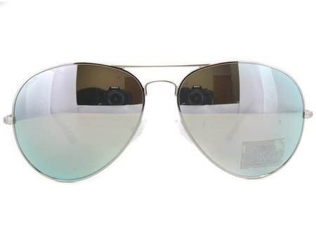 Made IN ITALY New Invicta Aviator Silver-Tone Sunglasses