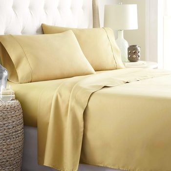 Sound Sleeping 4-Piece Brushed Microfiber Bed Sheet Set - Wrinkle - Fade - Stain Resistant - Hypoallergenic KING SIZE