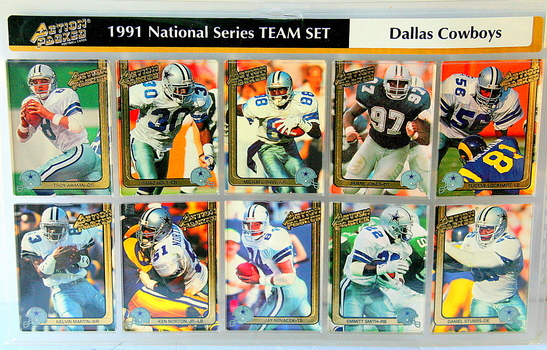 Circa 1991 National Series Team Dallas Cowboys Set of Cards 10pcs