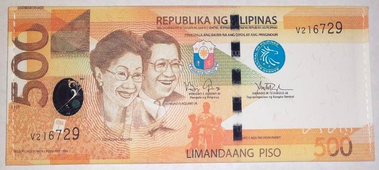 Philippines 500 Billfold Wallets