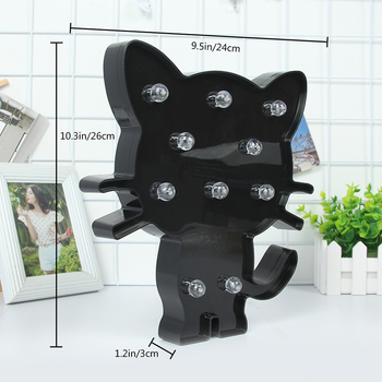 Marquee Cat Shaped Light Home Decor