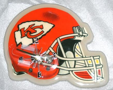 NFL Kanas City Chiefs Helmet Wall Clock