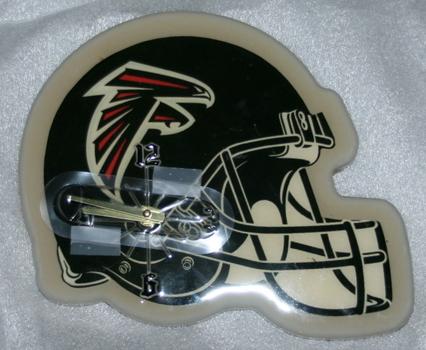 NFL Atlantic Falcons Helmet Wall Clock