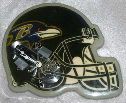 NFL Baltimore Ravens Helmet Wall Clock