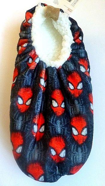 New Fuzzy Slipper Socks Marvel Size L/XL (KIDS)
