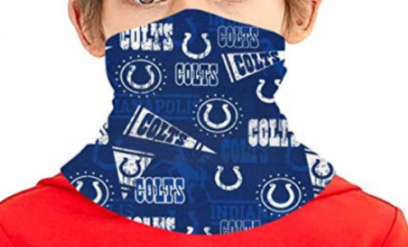New NFL COLTS Face Neck Gaiter Scarf