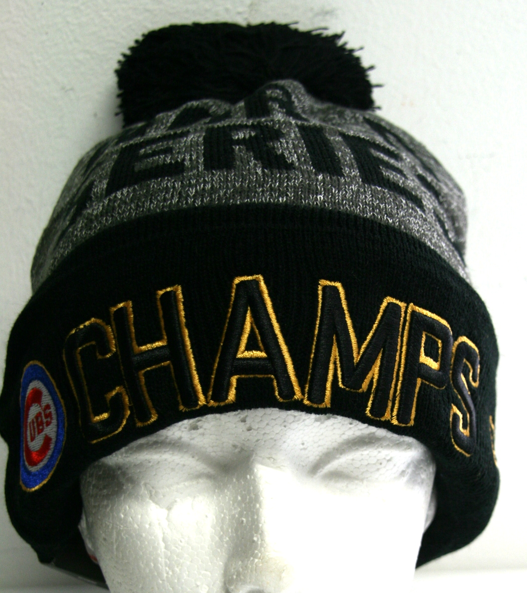 New MLB Chicago Cubs Champs 2016 Winter Hat One Size Fits Most ... 8cbb334cb31