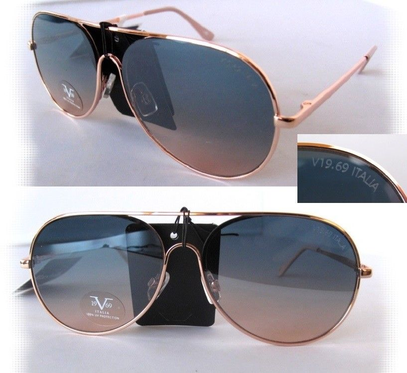 ea518684ac3de New 19V69 Italia VERSACE 1969 Aviator Sunglasses 100% UV