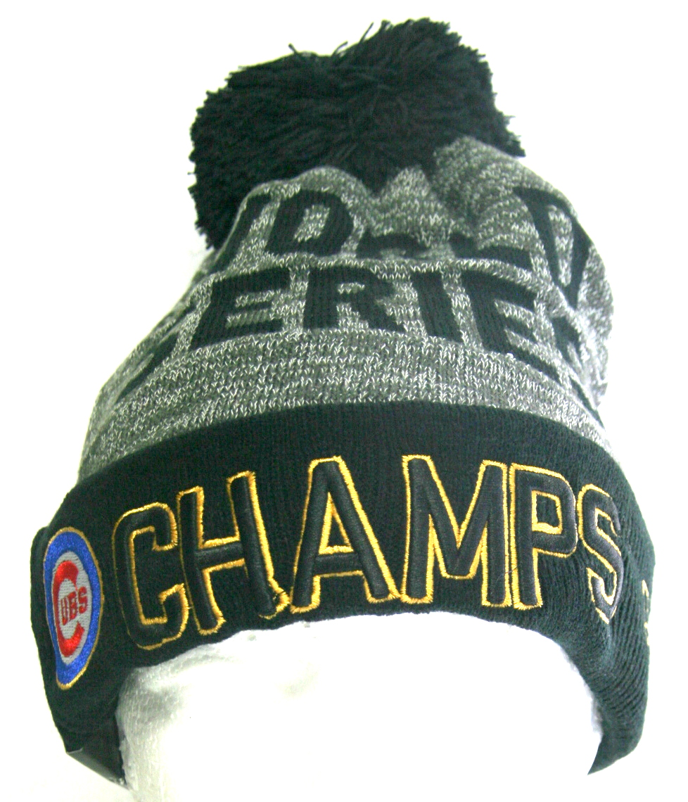 New World Series Champions CUBS 2016 Winter Hat One Size Fits Most ... fe87413a402