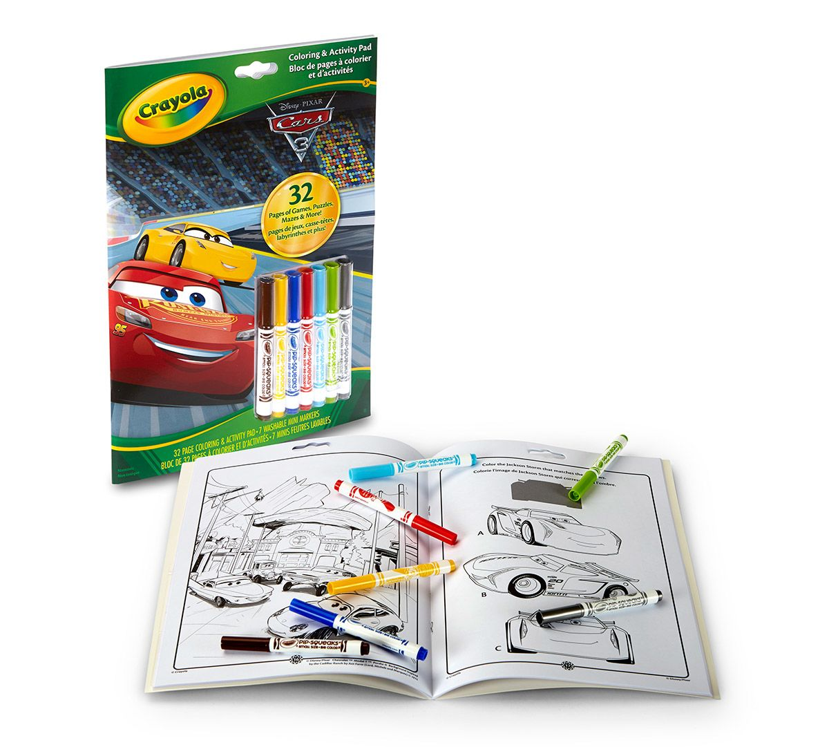 Crayola Coloring & Activity Pad w/Markers Cars 3 | Property Room