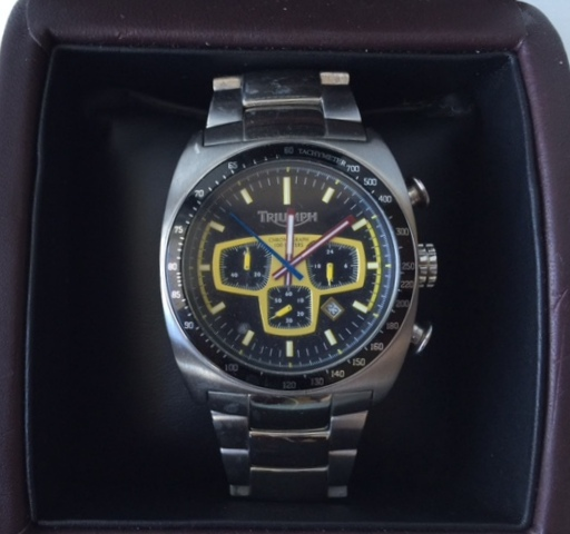 Triumph Motorcycle 3019 Men S Black Dial Chronograph Watch