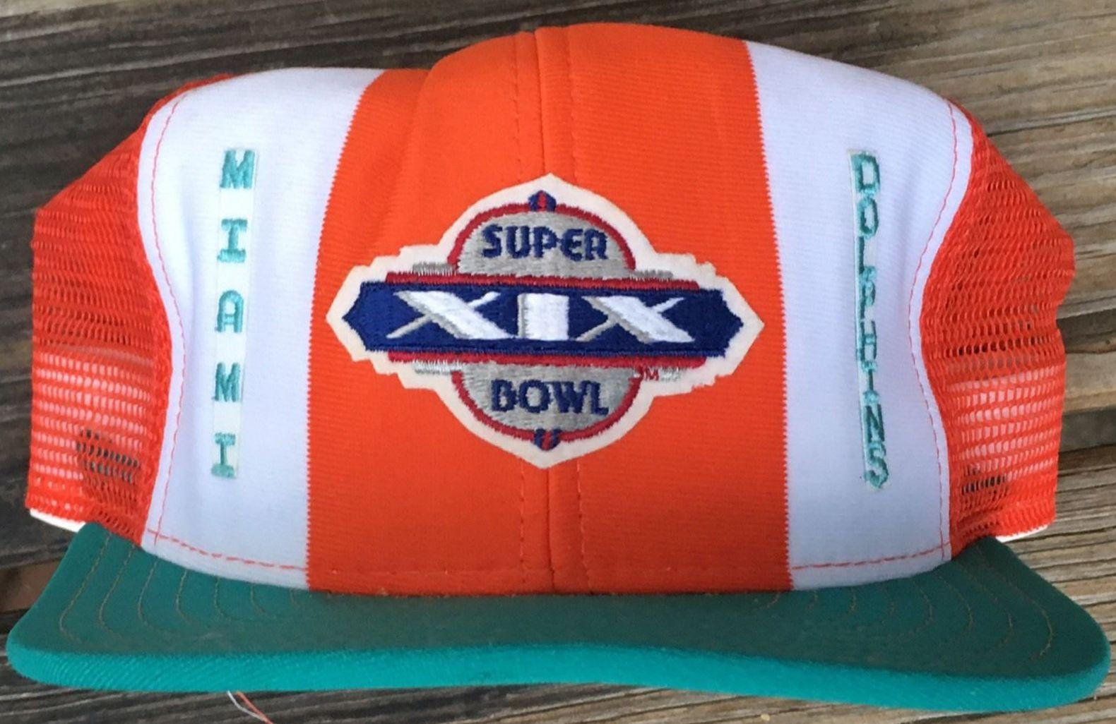 b71a97ad NFL Vintage Miami Dolphins Super Bowl XIX Snap Back Hat | Property Room