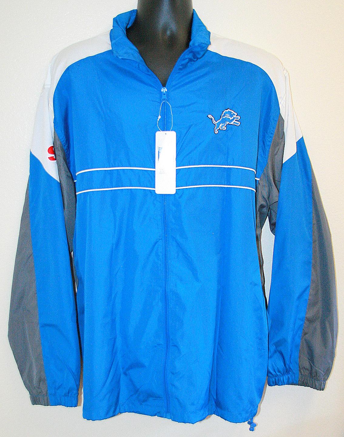 newest 90649 3c706 New NFL Detroit Lions Dunbrooke Men´s Windbreaker Jacket ...