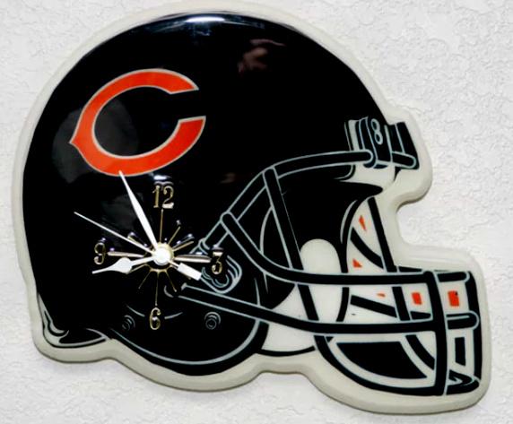 Christmas Gift Chicago Bears NFL Helmet Wall Clock | Property Room