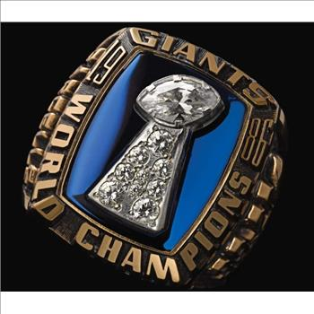 NFL New York Giants Steel Inlaid Ring Size 10