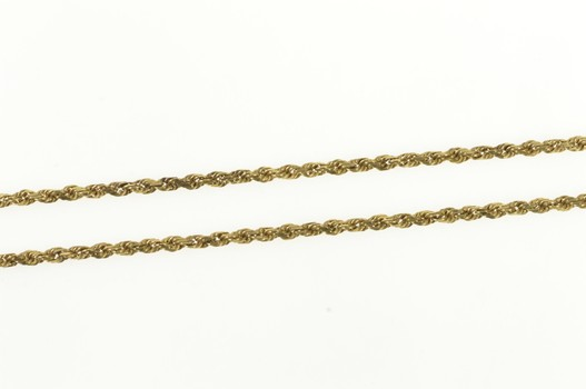 """10K 1.6mm Rope Chain Rolling Twist Link Yellow Gold Necklace 20.5"""""""