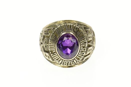10K 1987 Johns Hopkins University Men's Class White Gold Ring, Size 12