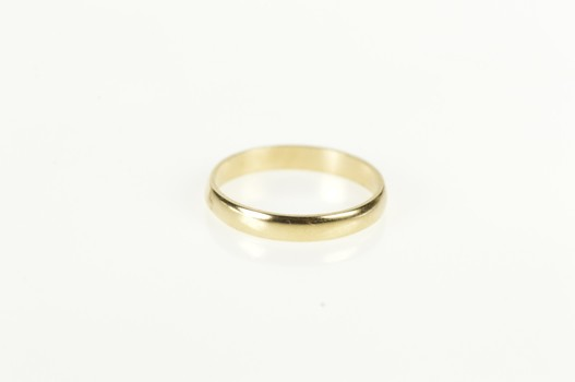 10K 2.1mm Plain Simple Baby Child's Band Yellow Gold Ring, Size 0.5