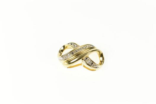 10K Infinity Symbol Diamond Slide Forever Yellow Gold Pendant