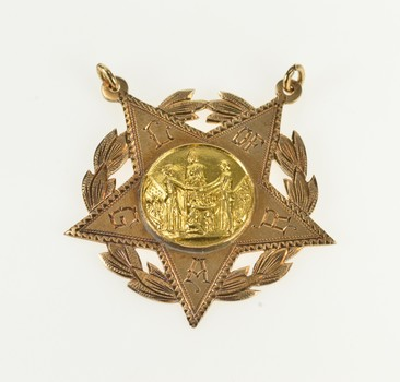 10K Ladies of the Grand Army of the Republic Star Yellow Gold Charm/Pendant