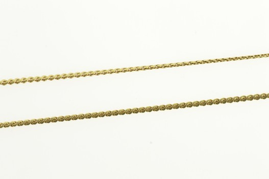 """14K 0.8mm Wavy Flat Serpentine Chain Link Yellow Gold Necklace 21.75"""""""