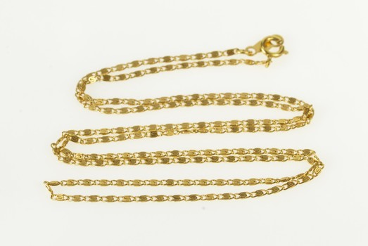 """14K 1.3mm Spiral Swirl Link Fancy Chain Yellow Gold Necklace 17.75"""""""