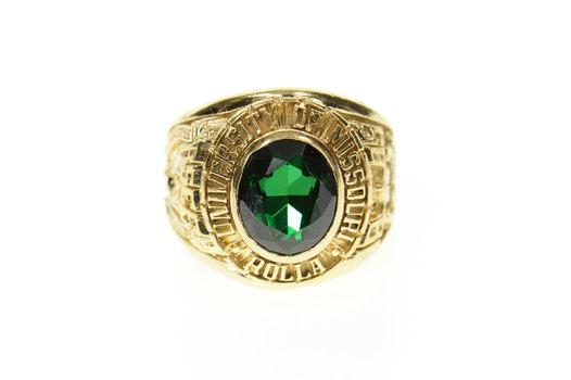 14K 1985 University of Missouri Rolla Men's Class Yellow Gold Ring, Size 10.5