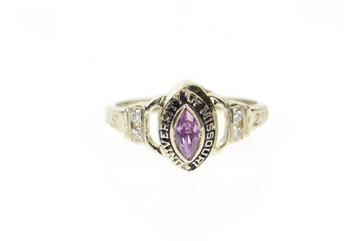 14K 2004 University of Missouri Diamond Class White Gold Ring, Size 5.75