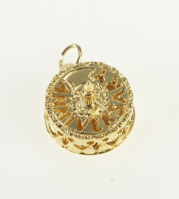 14K 3D Anniversary Wedding Cake Candle Yellow Gold Charm/Pendant