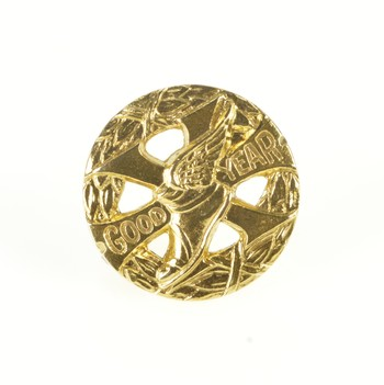 14K Good Year 10 Year Anniversary Lapel Yellow Gold Pin/Brooch